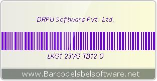 Code 39 barcode font designed by DRPU Barcode Generator Software