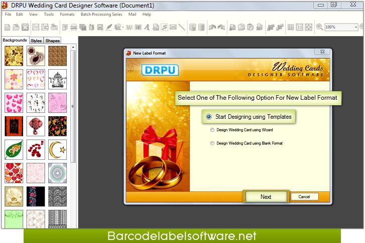Wedding card maker software creates printable wedding for Wedding invitation maker program