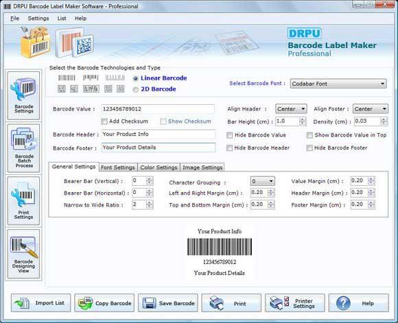 Click to view Barcode Software 7.3.0.1 screenshot